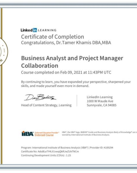 BA and PM collaboration