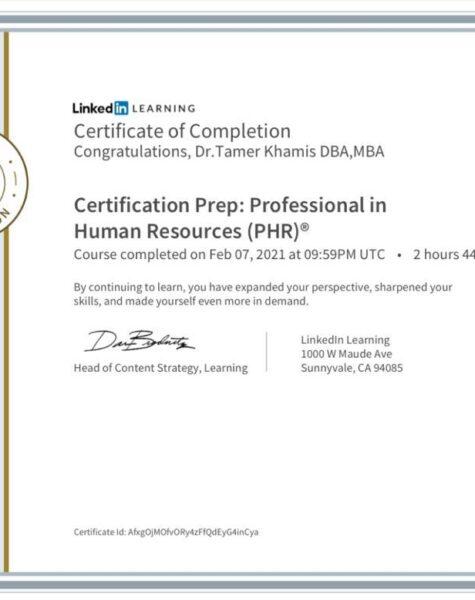 profisional in human resource (PHR)