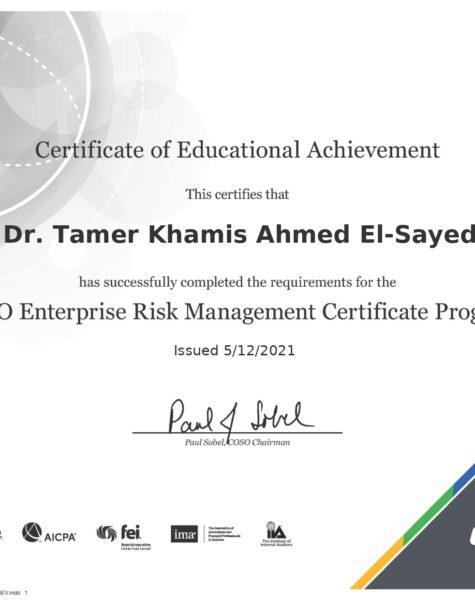 COSO ERM Certifecate